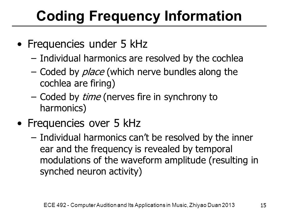 Coding Frequency Information