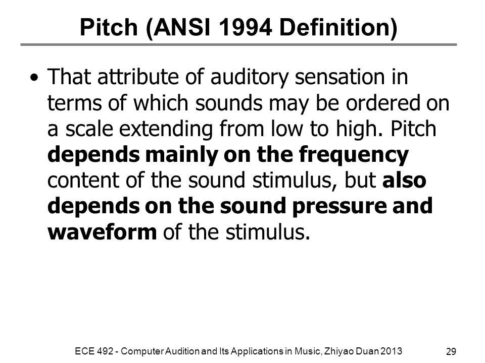 Pitch (ANSI 1994 Definition)