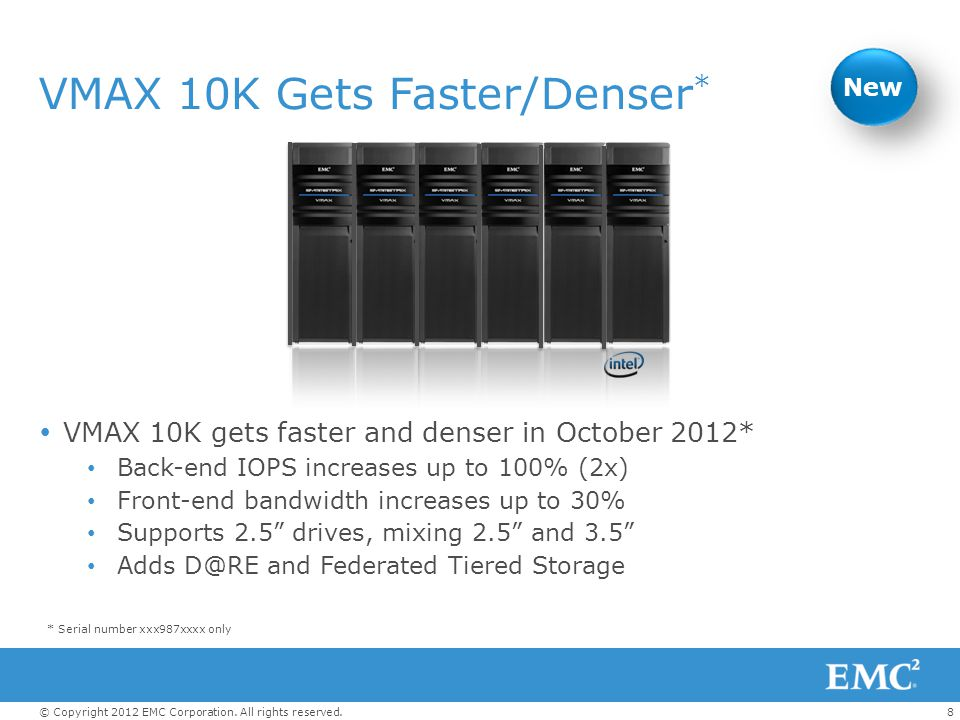 VMAX 10K Gets Faster/Denser*