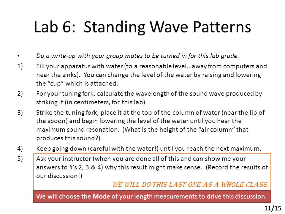 Lab 6: Standing Wave Patterns