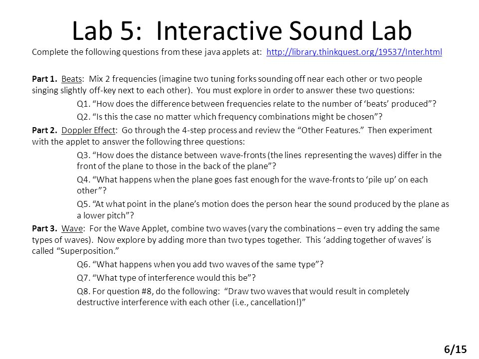 Lab 5: Interactive Sound Lab