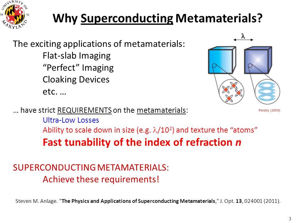 Why Superconducting Metamaterials