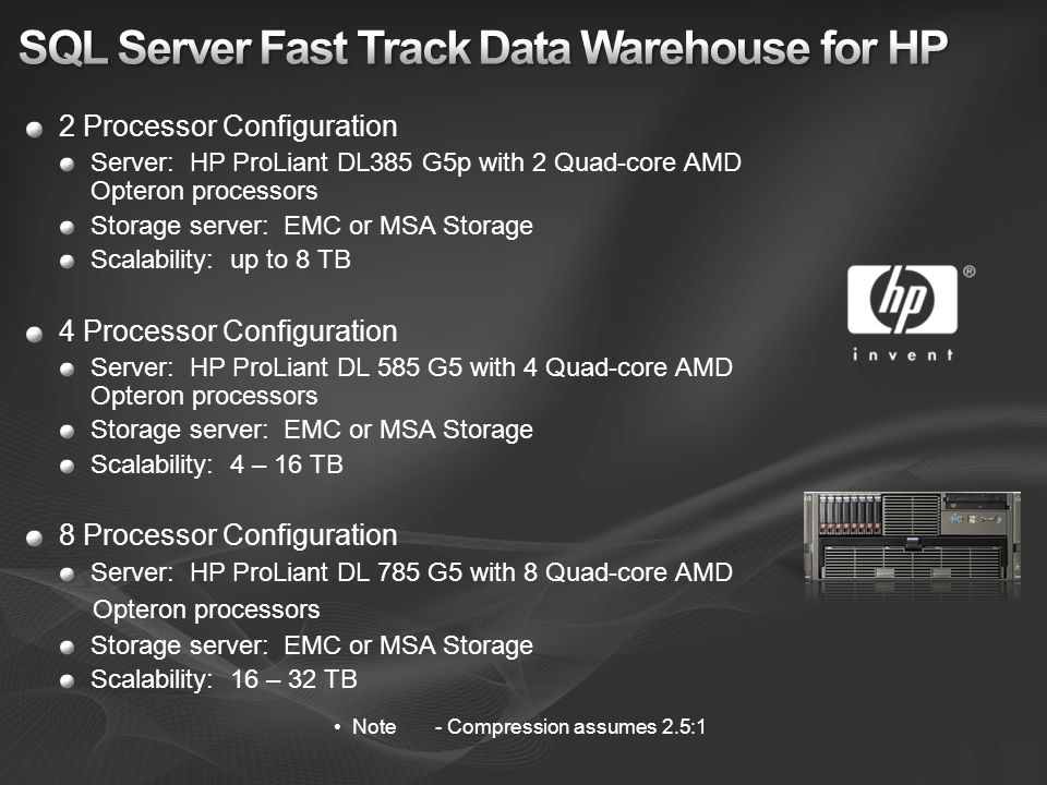 SQL Server Fast Track Data Warehouse for HP