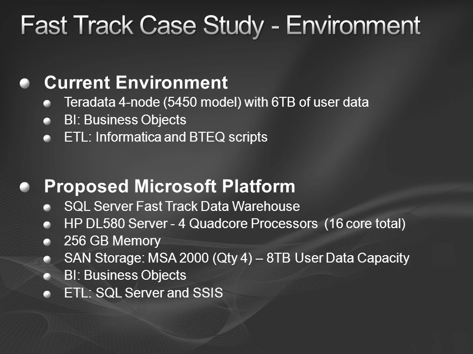 Fast Track Case Study - Environment