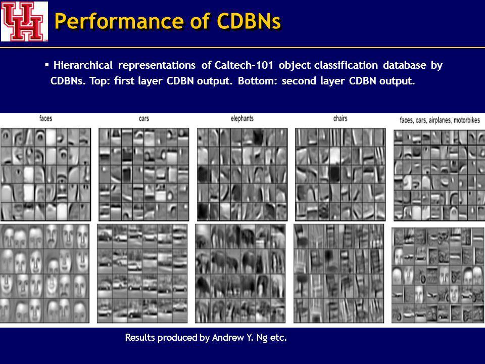 Performance of CDBNs