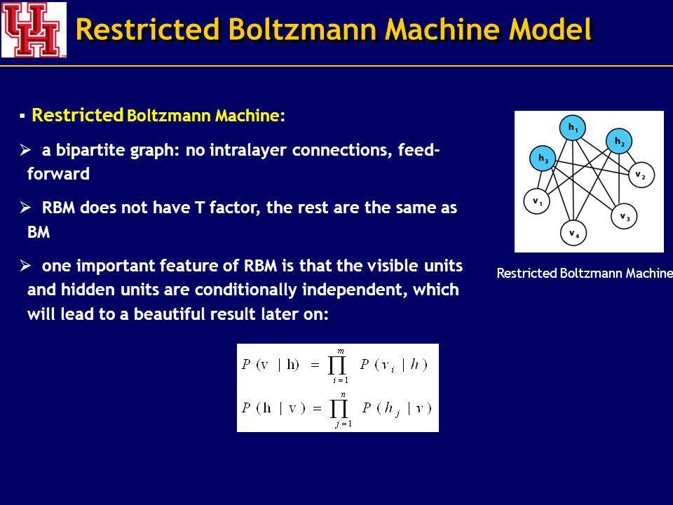 Restricted Boltzmann Machine Model