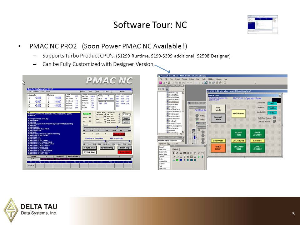 Software Tour: NC PMAC NC PRO2 (Soon Power PMAC NC Available !)