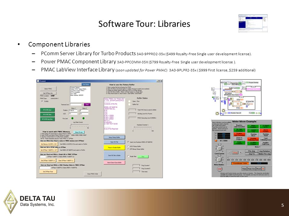 Software Tour: Libraries