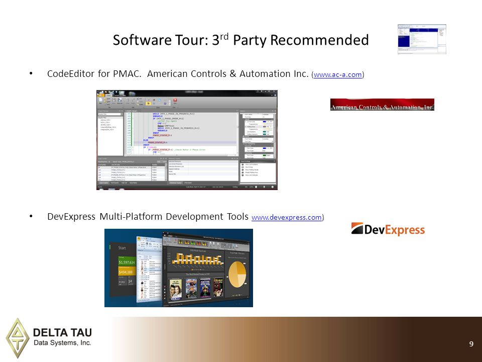 Software Tour: 3rd Party Recommended