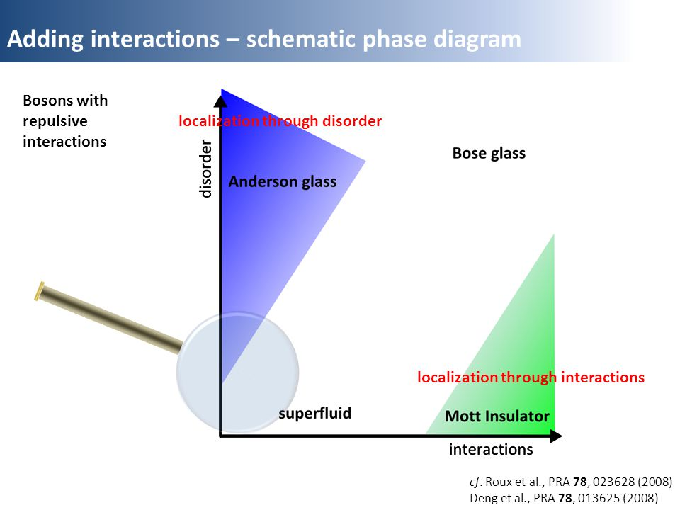 Adding interactions – schematic phase diagram