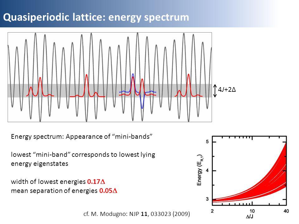 Quasiperiodic lattice: energy spectrum