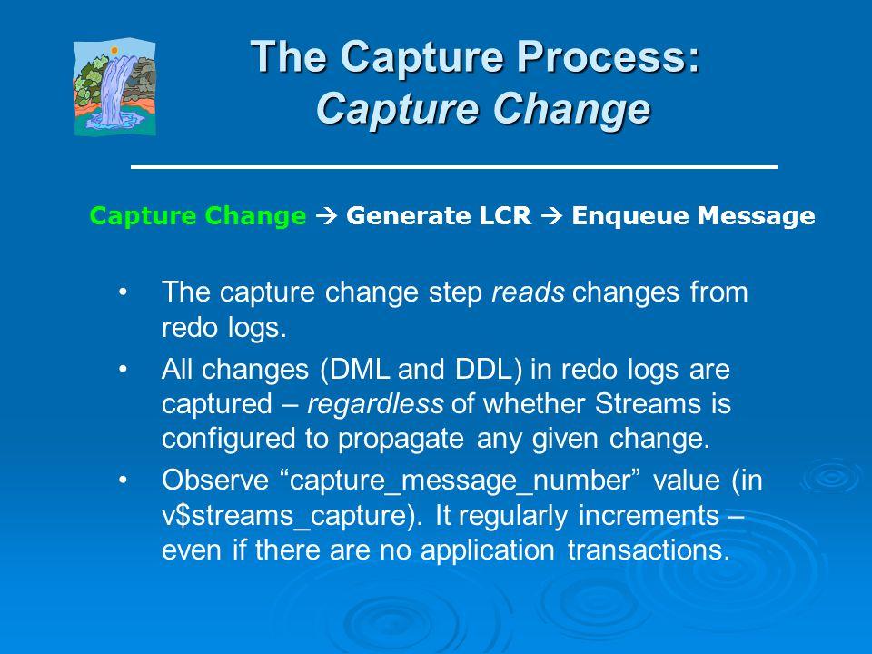 The Capture Process: Capture Change