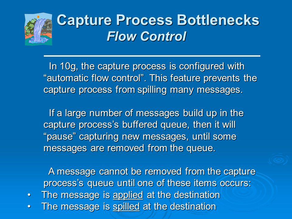 Capture Process Bottlenecks Flow Control