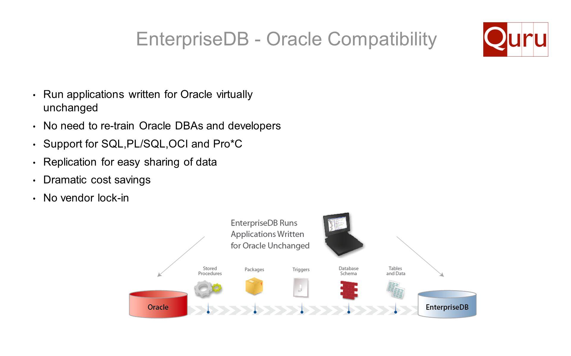 EnterpriseDB - Oracle Compatibility