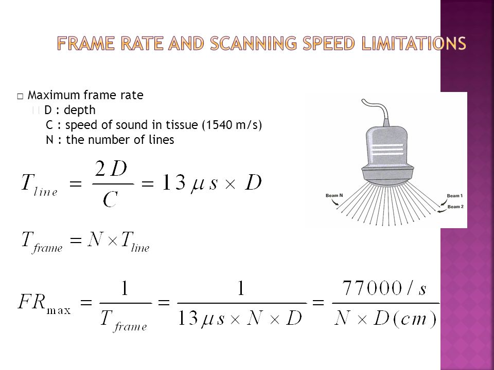 Frame rate and scanning speed limitations