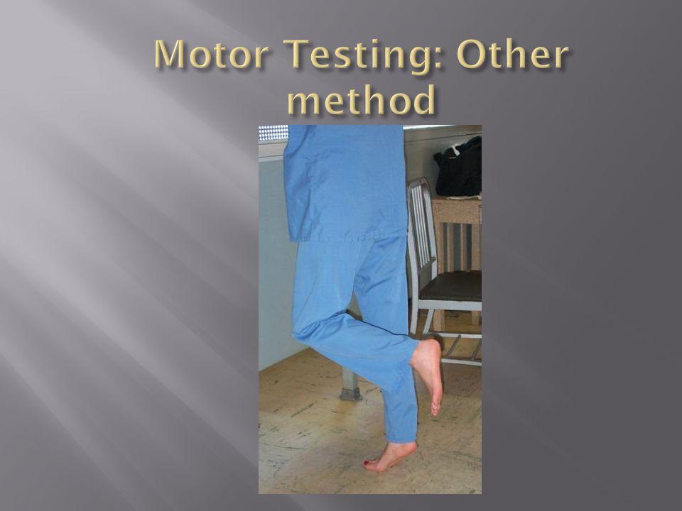 Motor Testing: Other method