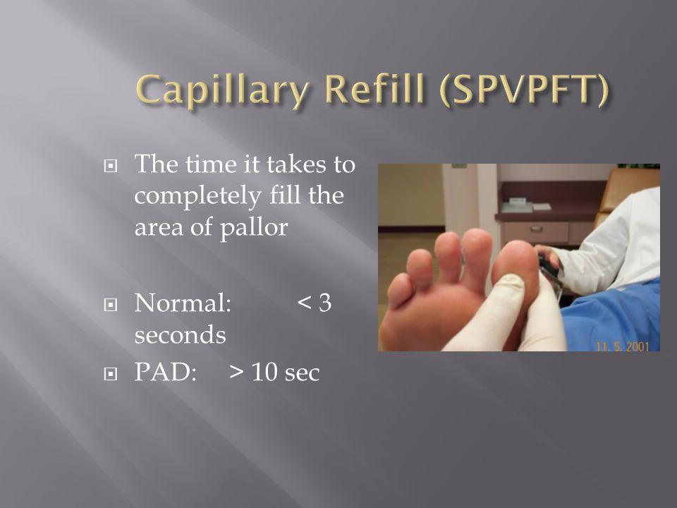 Capillary Refill (SPVPFT)