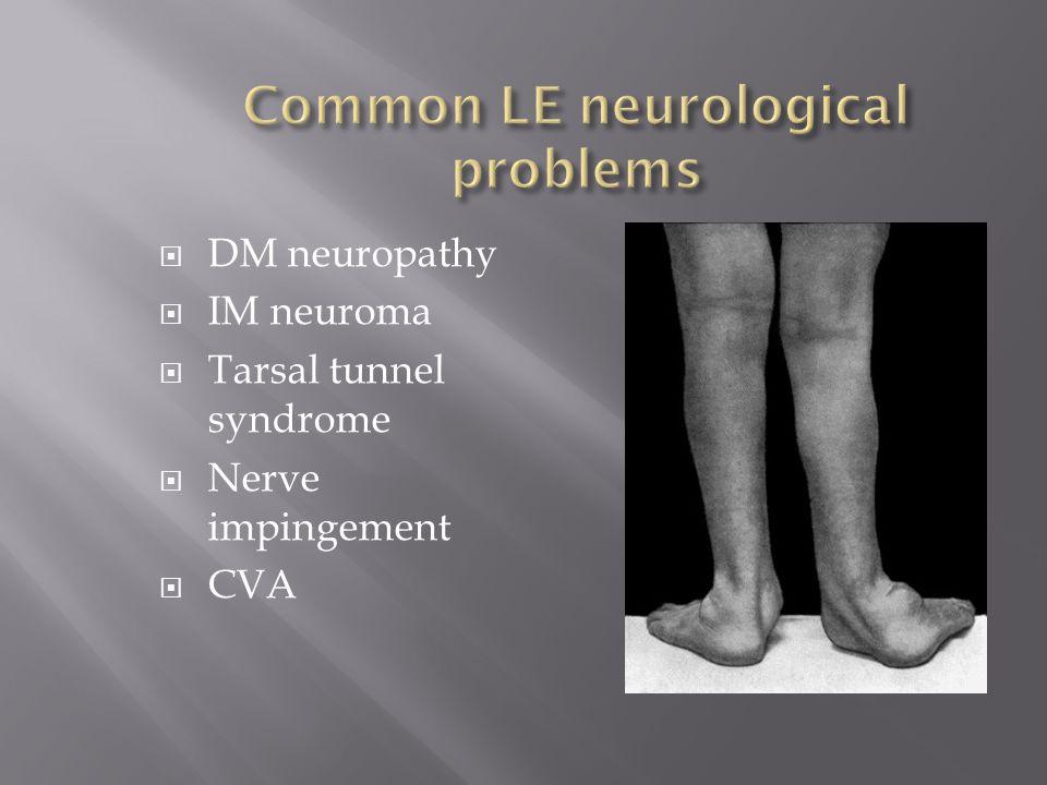 Common LE neurological problems