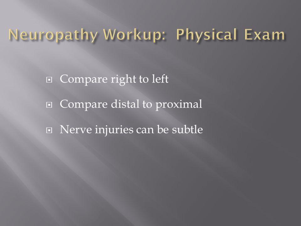 Neuropathy Workup: Physical Exam