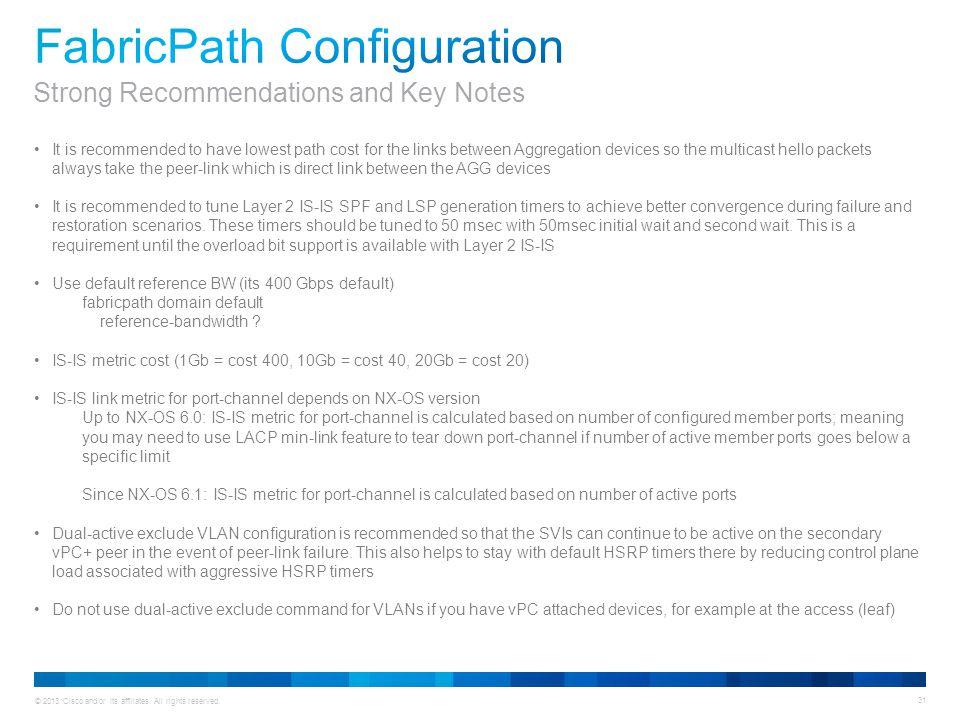 FabricPath Configuration