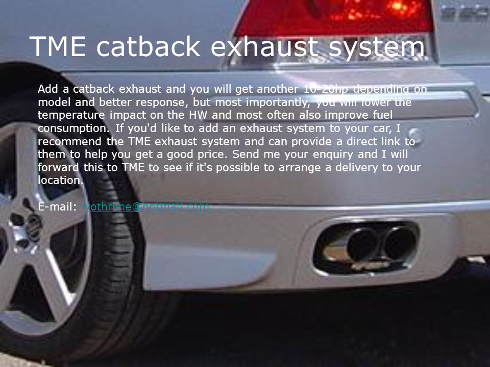 TME catback exhaust system