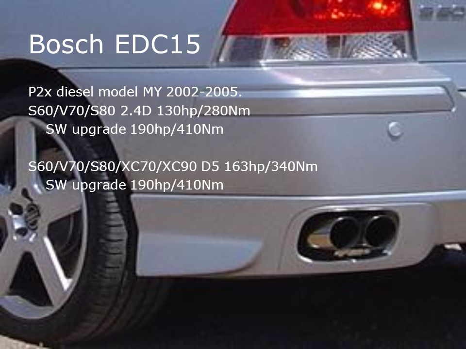 Bosch EDC15 P2x diesel model MY 2002-2005.