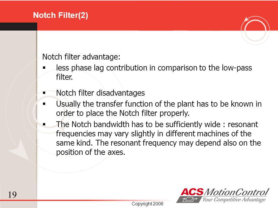 Notch Filter(2) Notch filter advantage: