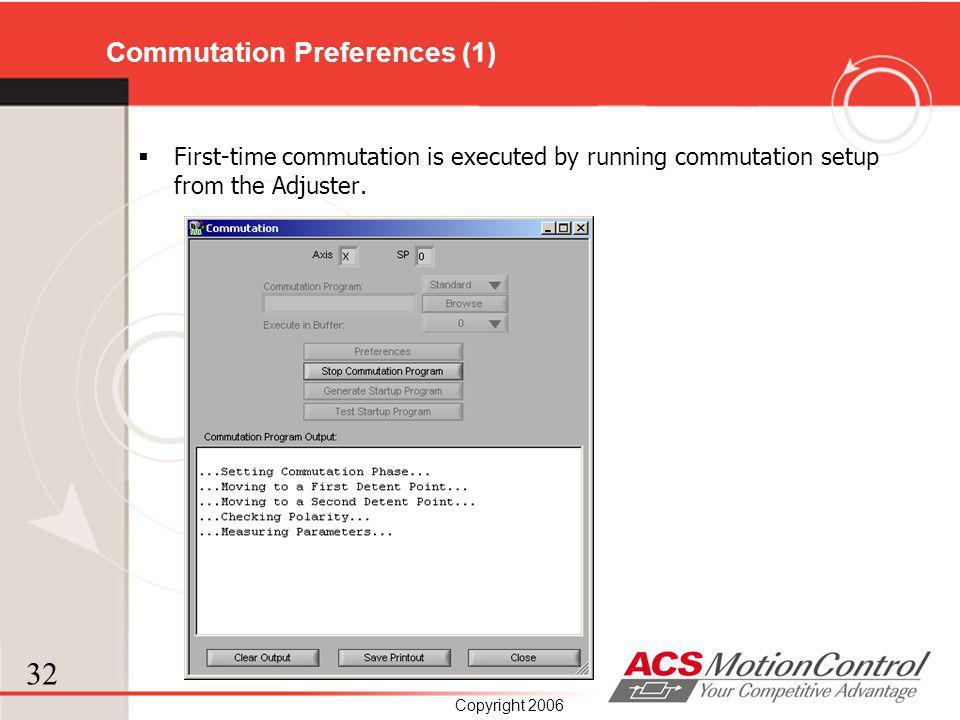 Commutation Preferences (1)