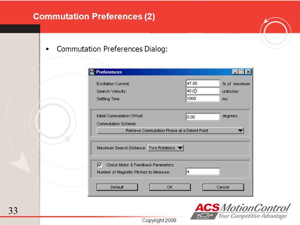 Commutation Preferences (2)