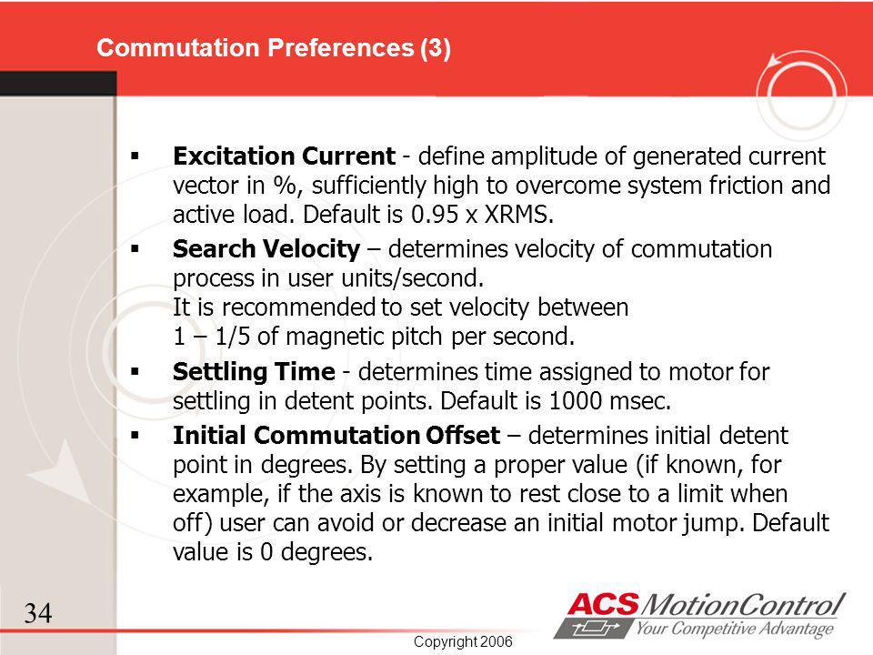 Commutation Preferences (3)