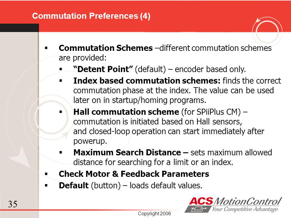 Commutation Preferences (4)