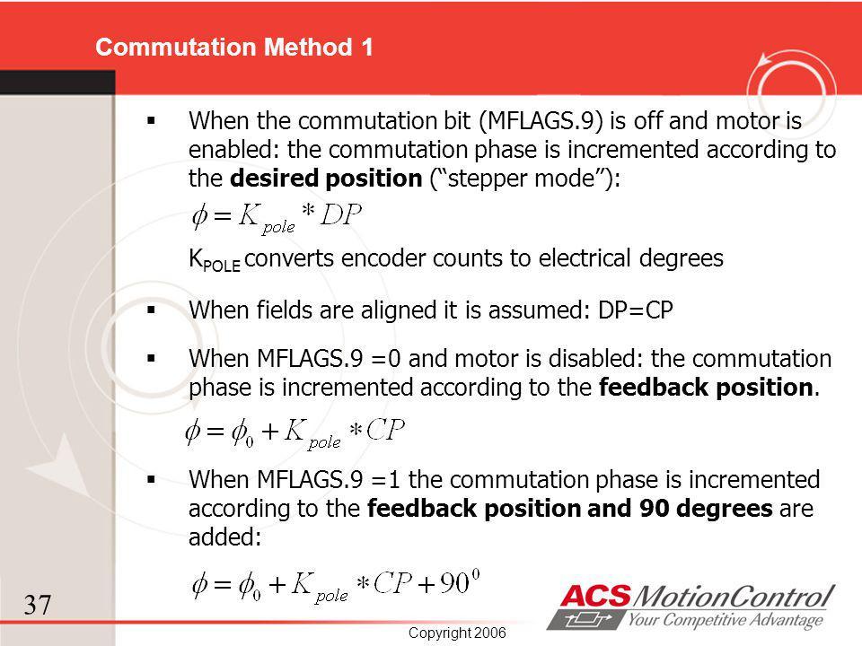 Commutation Method 1