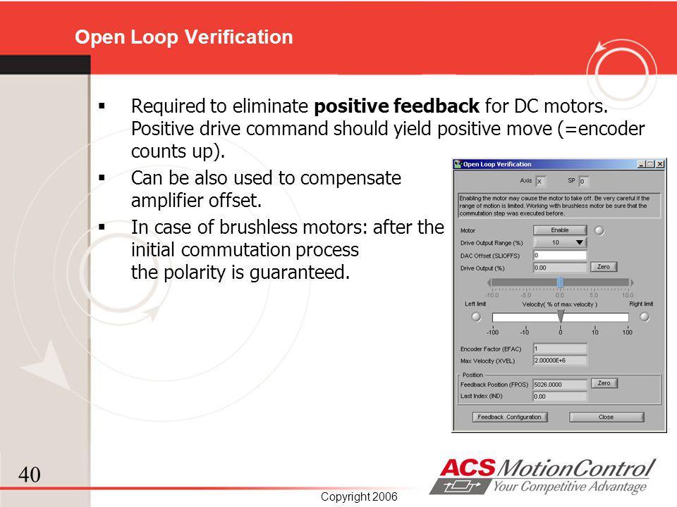 Open Loop Verification