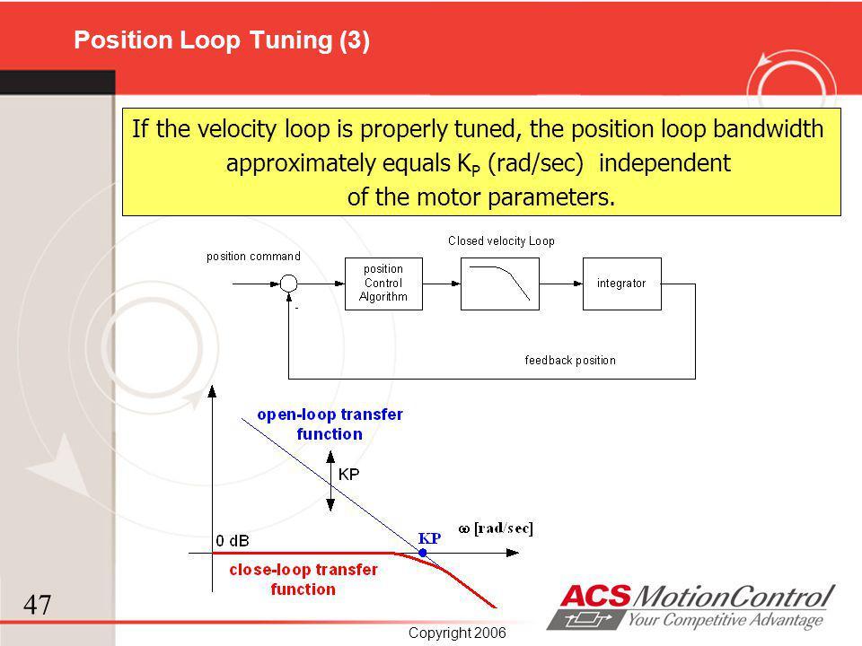 Position Loop Tuning (3)