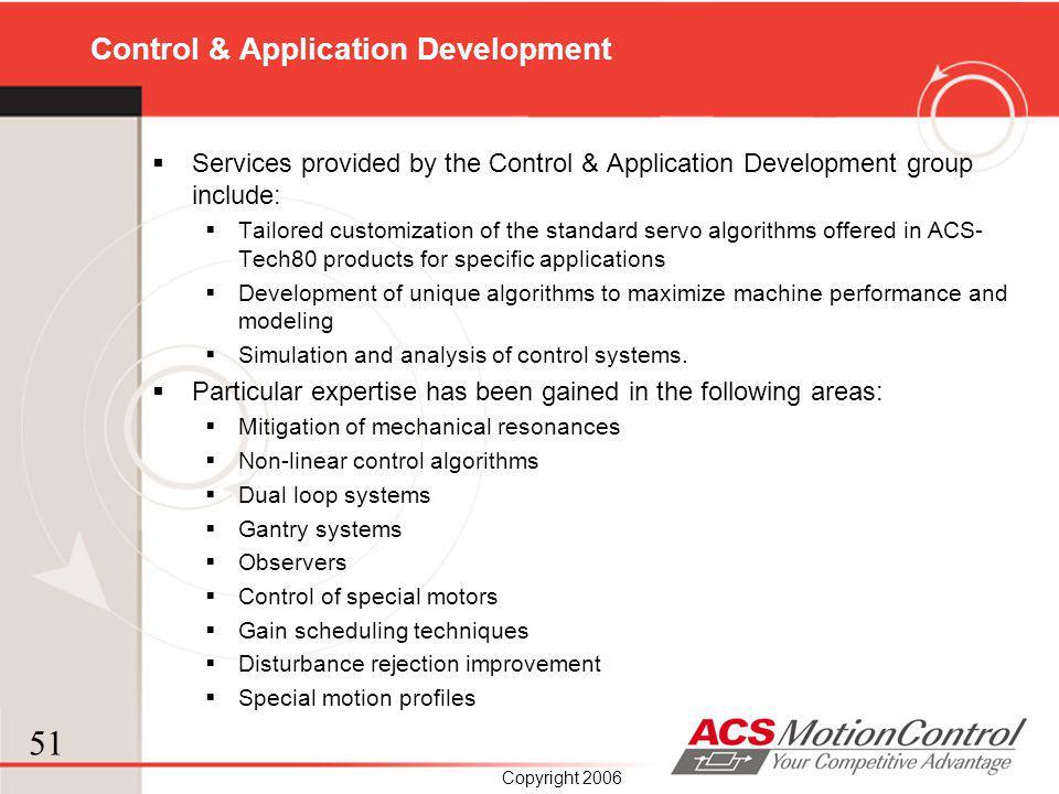 Control & Application Development
