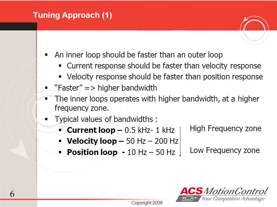Tuning Approach (1) An inner loop should be faster than an outer loop