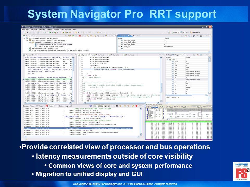 System Navigator Pro RRT support