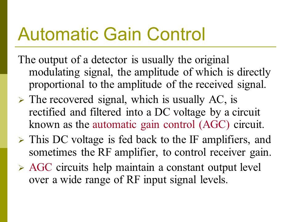 Automatic Gain Control
