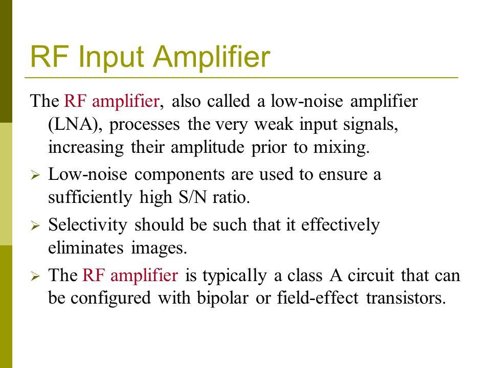 RF Input Amplifier