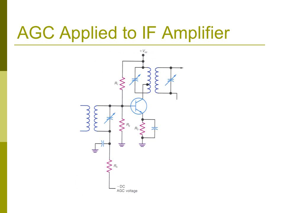 AGC Applied to IF Amplifier