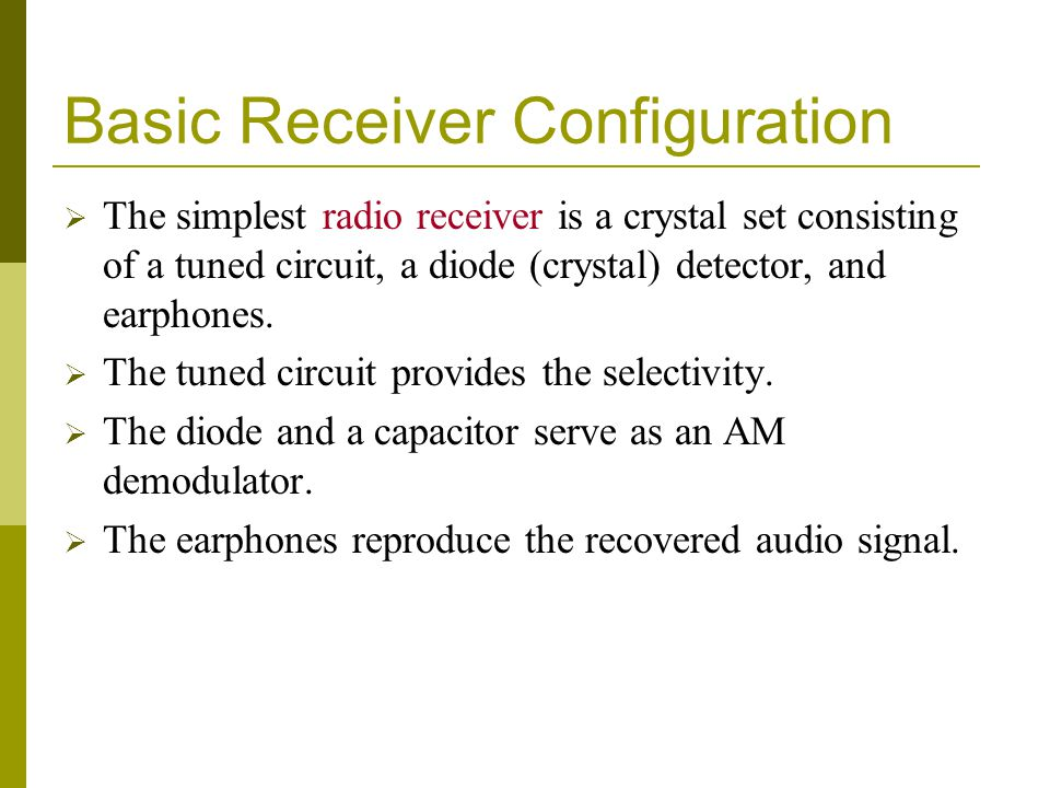 Basic Receiver Configuration