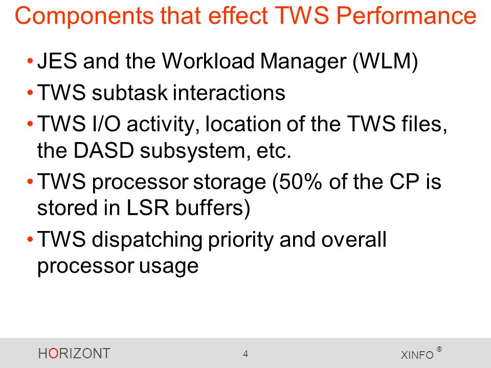 Components that effect TWS Performance