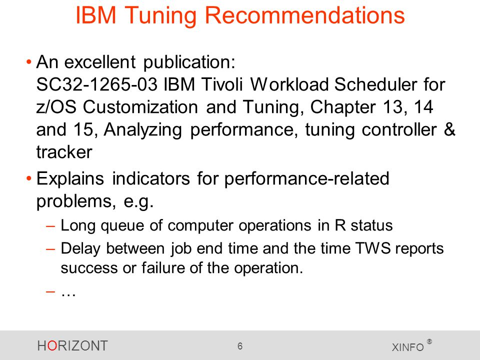 IBM Tuning Recommendations