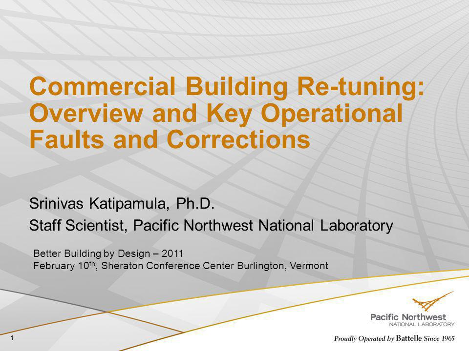 Commercial Building Re-tuning: Overview and Key Operational Faults and Corrections