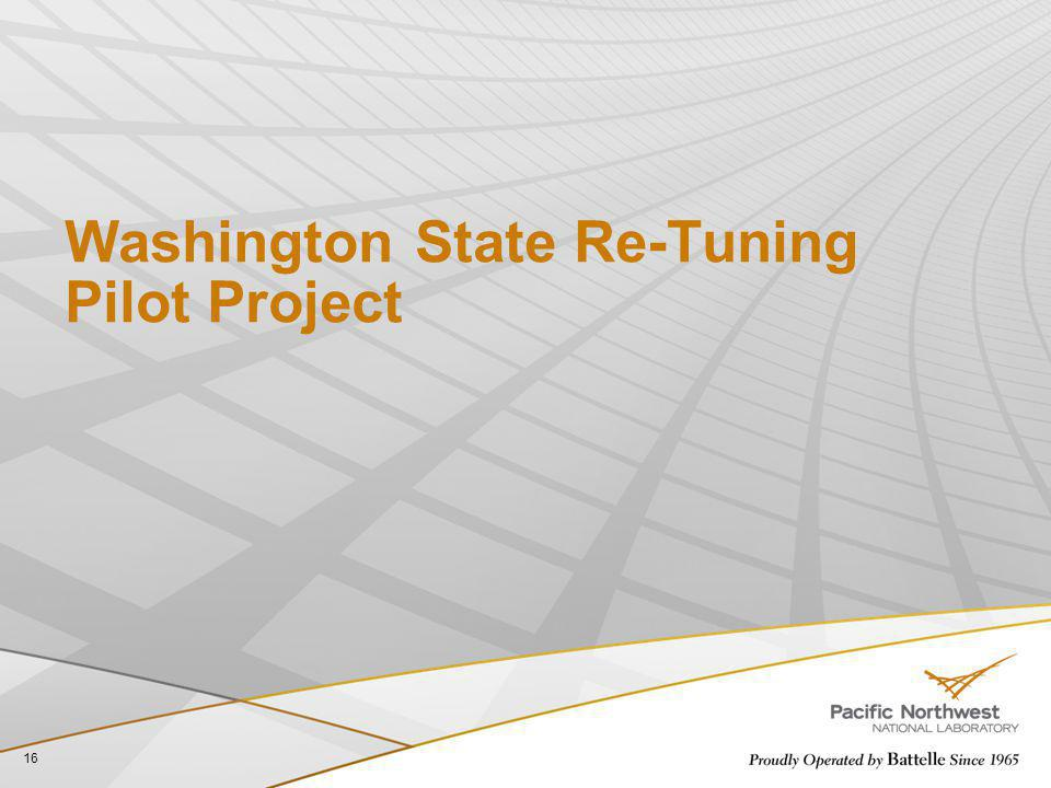 Washington State Re-Tuning Pilot Project