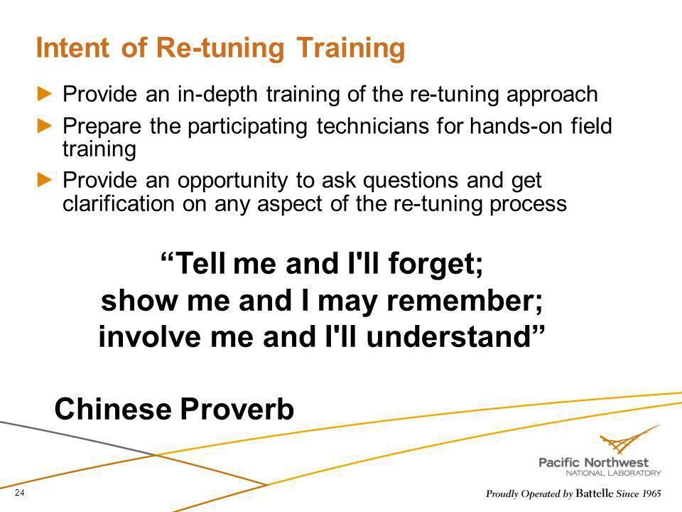 Intent of Re-tuning Training