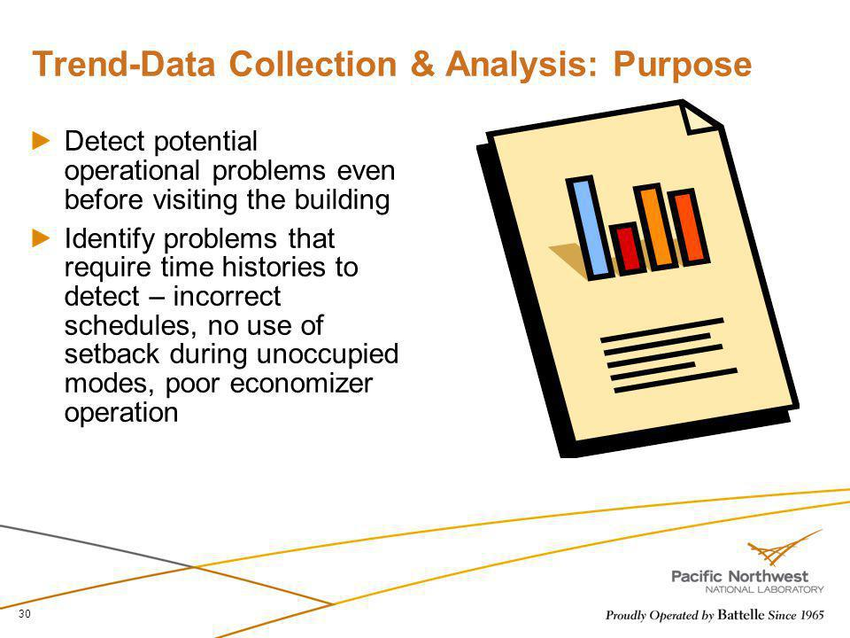 Trend-Data Collection & Analysis: Purpose