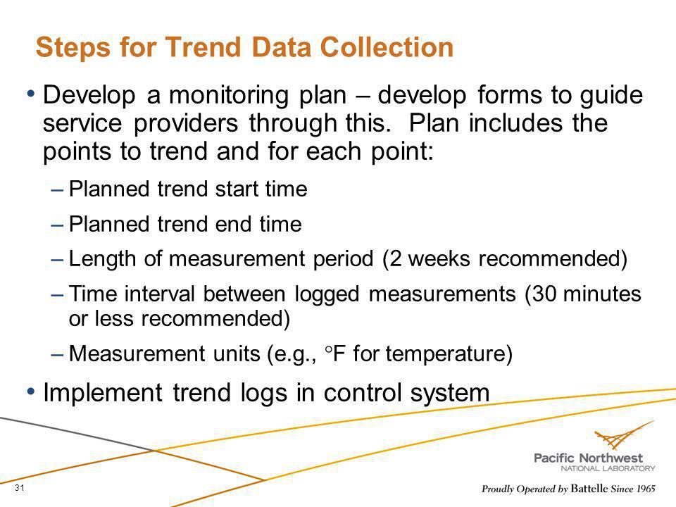 Steps for Trend Data Collection