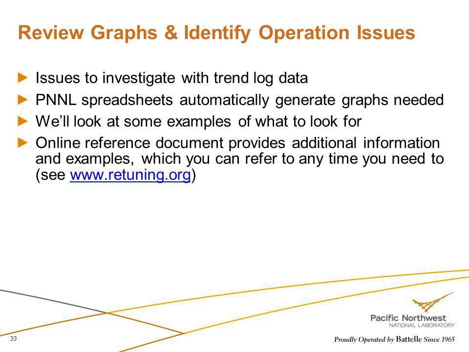 Review Graphs & Identify Operation Issues