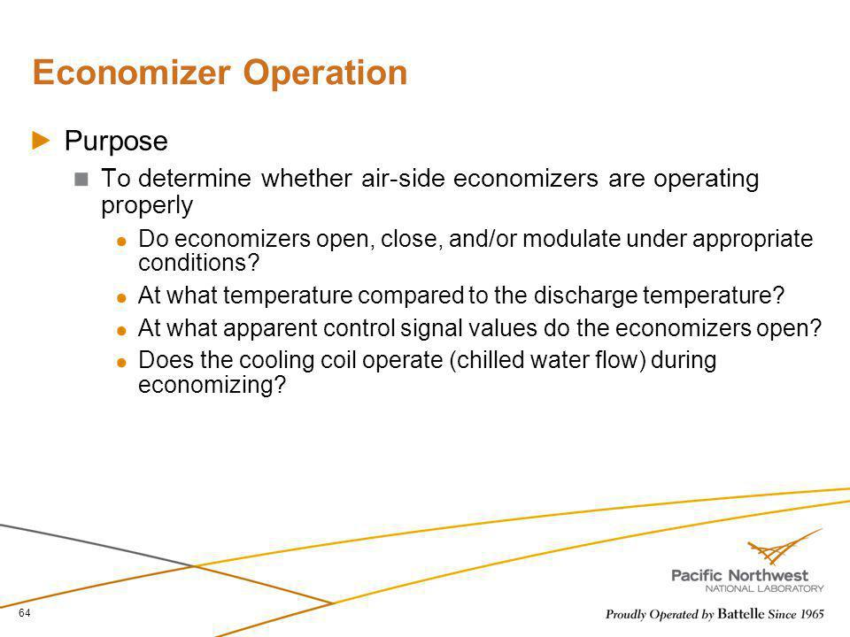 Economizer Operation Purpose